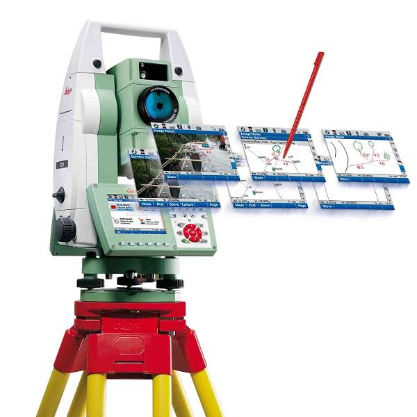 Панель управления роботизированным тахеометром.